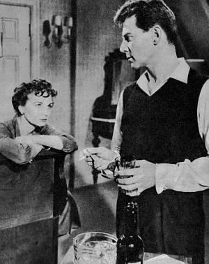 Jean Simmons in einer Filmszene.