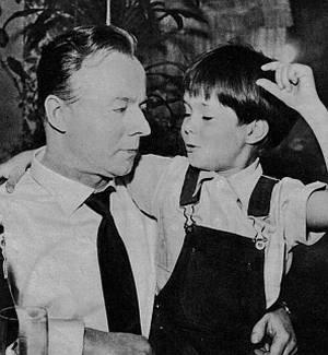 Heinz Rühmann und Oliver Grimm
