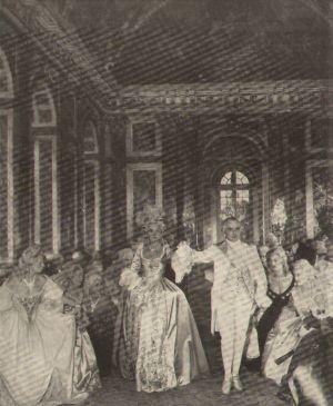 Ludwig XVI. (Gilbert Boca) mit Marie-Antoinette (Lena Marconi)
