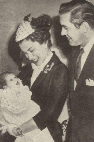 Tyrone Power mit Frau Linda Christian und Tochter Taryn
