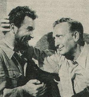 Franz Muxeneder mit Hans Albers