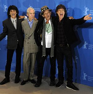 The Rolling Stones: Ron Wood, Charlie Watts, Keith Richards, Mick Jagger