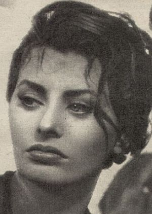 Sophia Loren in jungen Jahren