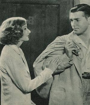 """Clark Gable mit Greta Garbo in """"Helgas Fall und Aufstieg"""""""