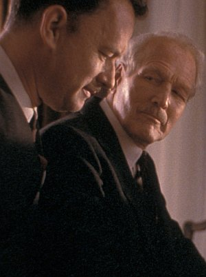 "Tom Hanks und Paul Newman in ""Road to Perdition"""