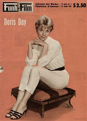 """Das Cover mit Doris Day von """"Funk und Film"""" im Januar 1959"""