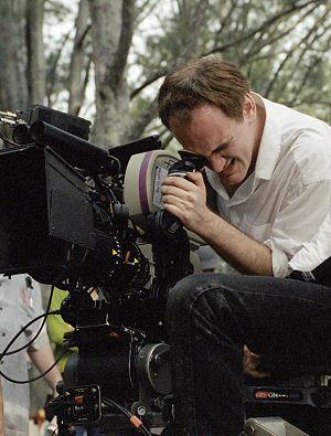 Quentin Tarantino am Set