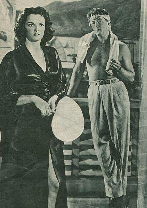 """Jane Russel und Robert Mitchum in """"Macao"""""""