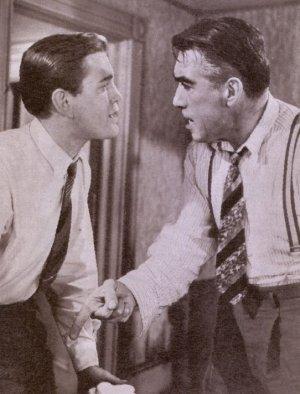 "Anthony Quinn und Earl Holliman in ""Hitzewelle"""