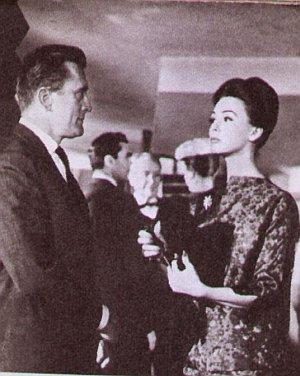 Das Verhältnis zwischen Kirk Douglas und Barbara Rush war schon einmal besser