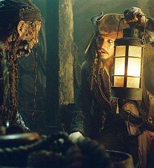 Johnny Depp alias Kapitän Jack Sparrow in seinem zweiten Abenteuer