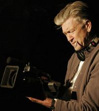 Regisseur David Lynch am Set von Inland Empire