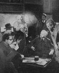 Jean Pierre Melville  bei den Dreharbeiten.