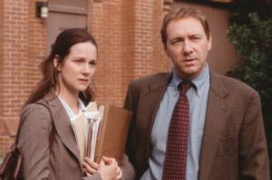 Laura Linney, Kevin Spacey in: Das Leben des David Gale