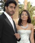 Abhishek Bachchan mit Ehefrau Aishwarya Rai Bachchan in Cannes (2007)