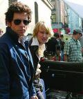 Ben Stiller und Buddy Owen Wilson am Set von Starsky & Hutch
