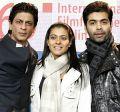 Shah Rukh Khan, Kajol und Karan Johar auf der Berlinale (2010)