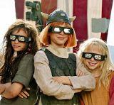 """Jonas Hämmerle, Valeria Eisenbart, Mercedes Jadea Diaz am Set von """"Wickie auf großer Fahrt 3D"""""""