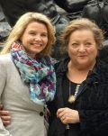"""Marianne Sägebrecht und Annette Frier am Set von """"Oma in Roma"""""""