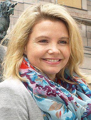 """Annette Frier am Set von """"Oma in Roma"""" in München"""