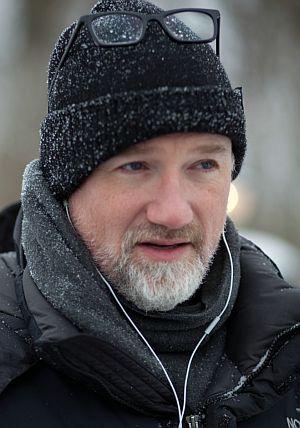 """David Fincher am Set zu """"Verblendung"""""""