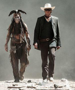 """Johnny Depp und Armie Hammer in """"Lone Ranger"""""""