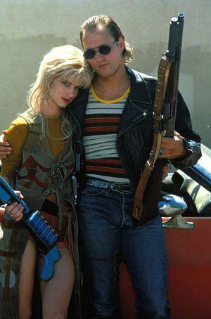 """Hinterlassen eine blutige Spur: Woody Harrelson und Juliette Lewis als """"Natural Born Killers"""""""