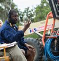 "Regisseur Steve McQueen am Set von ""12 Years a Slave"""