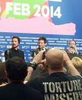Christian Bale, Bradley Cooper und David O. Russell auf der Berlinale 2014