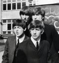 "Die Beatles John Lennon, Paul McCartney, George Harrison und Ringo Starr in ""A Hard Day's Night"""