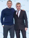 """Daniel Craig und Christoph Waltz auf der Pressekonferenz zu """"James Bond 007: Spectre"""""""