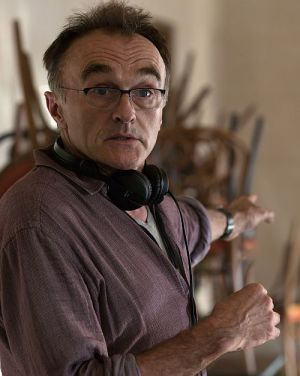 "Danny Boyle am Set von ""Steve Jobs"""