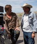 "Chris Pine und David Mackenzie am Set von ""Hell or High Water"" (2016)"