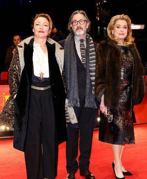 """Catherine Frot, Martin Provost und Catherine Deneuve auf der Berlinale (""""Ein Kuss von Beatrice"""")"""
