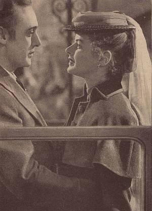 """Ingrid Bergman mit Charles Boyer in """"Das Haus der Lady Alquist""""."""