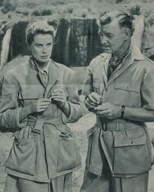Grace Kelly und Clark Gable.