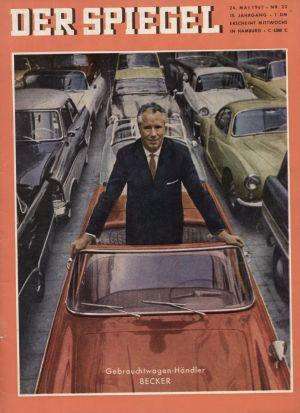 """Gebrauchtwagen - Händler Becker auf dem Cover von """"Der Spiegel"""""""