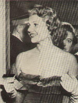 Rita Hayworth kurz nach der Hochzeit mit Ali Khan