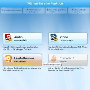 Screenshot Formatwandler 360