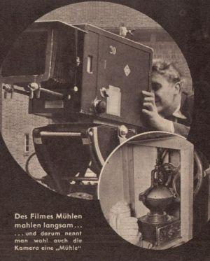 Seltsame Kamerasprache im Jahr 1939