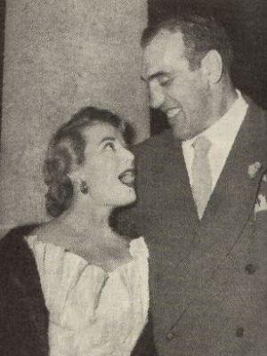 Catherine Zabe an der Seite des Riesen Primo Carnera