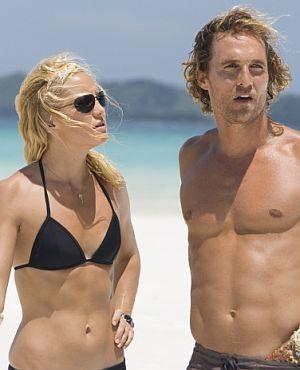 Kate und Matthew am Strand von Australien