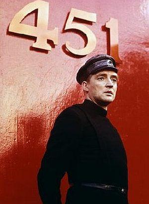 "Oskar Werner in ""Fahrenheit 451"""
