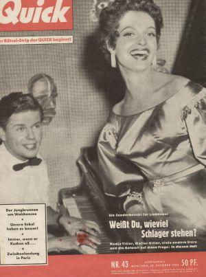 Das Cover der Zeitschrift Quick vom 25.10.1953