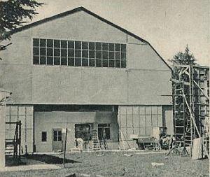 Das Gebäude in Geiselgasteig