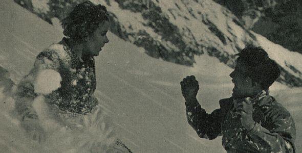 Renate Müller und Wolf Albach-Retty im Schnee