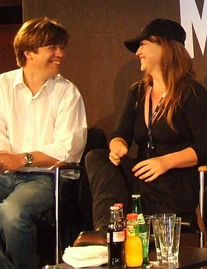 Marco Mehlitz und Jennifer Lynch immer zu Scherzen aufgelegt