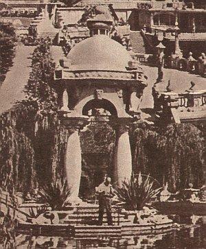 Der Garten von Grocks Haus in italien