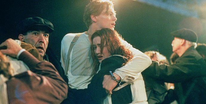 """Leonardo DiCaprio & Kate Winslet auf der """"Titanic"""" (1997)"""