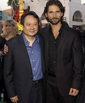 Hulk-Hauptdarsteller Eric Bana mit Regisseur Ang Lee